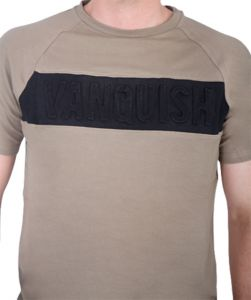 Sport-Shirt Fitness Panel T-Shirt Brindle