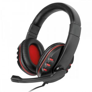 On-Ear Multimedia Stereo-Headset 'NoXx', Schwarz/Rot